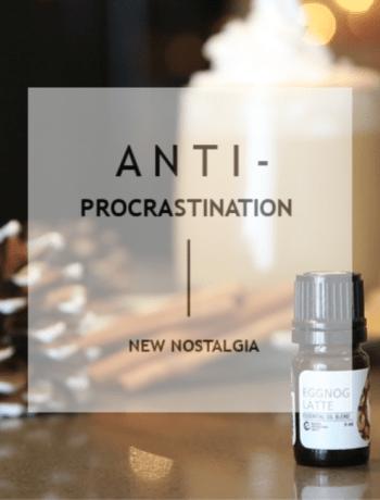 ANTI-PROCRASTINATION a mug and fall oil blends.