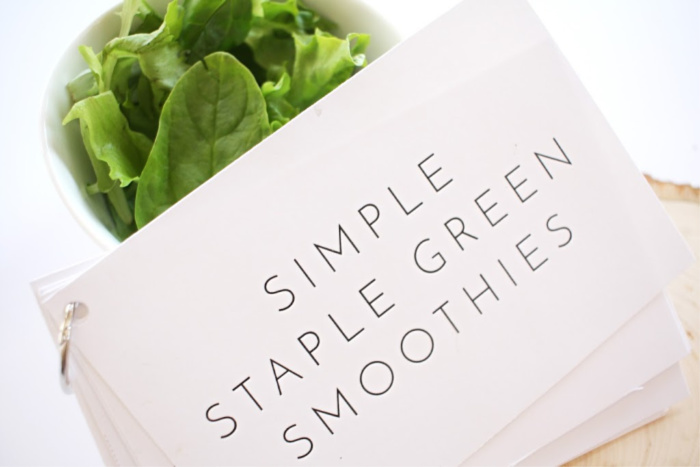 simple green smoothie recipe card