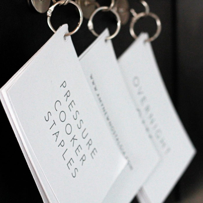 cards on rings magnetic hooks