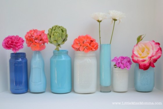 LMM painted jars