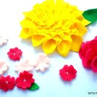 felt flower medley