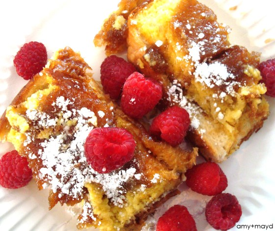 Baked Raspberry French Toast