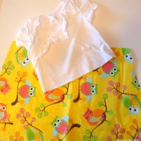 toddler owl dress tutorial