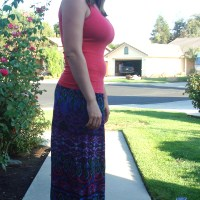 easy sew maxi skirt