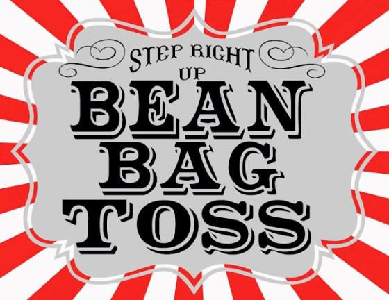 carnival sign-bean bag toss