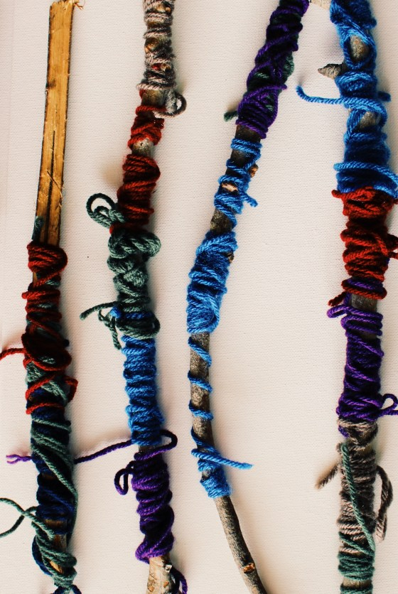 Yarn crafts with nature