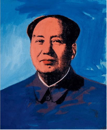 A Portrait of Mao by an unknown artist after Andy Warhol.