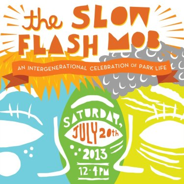 Slow Flash Mob Square