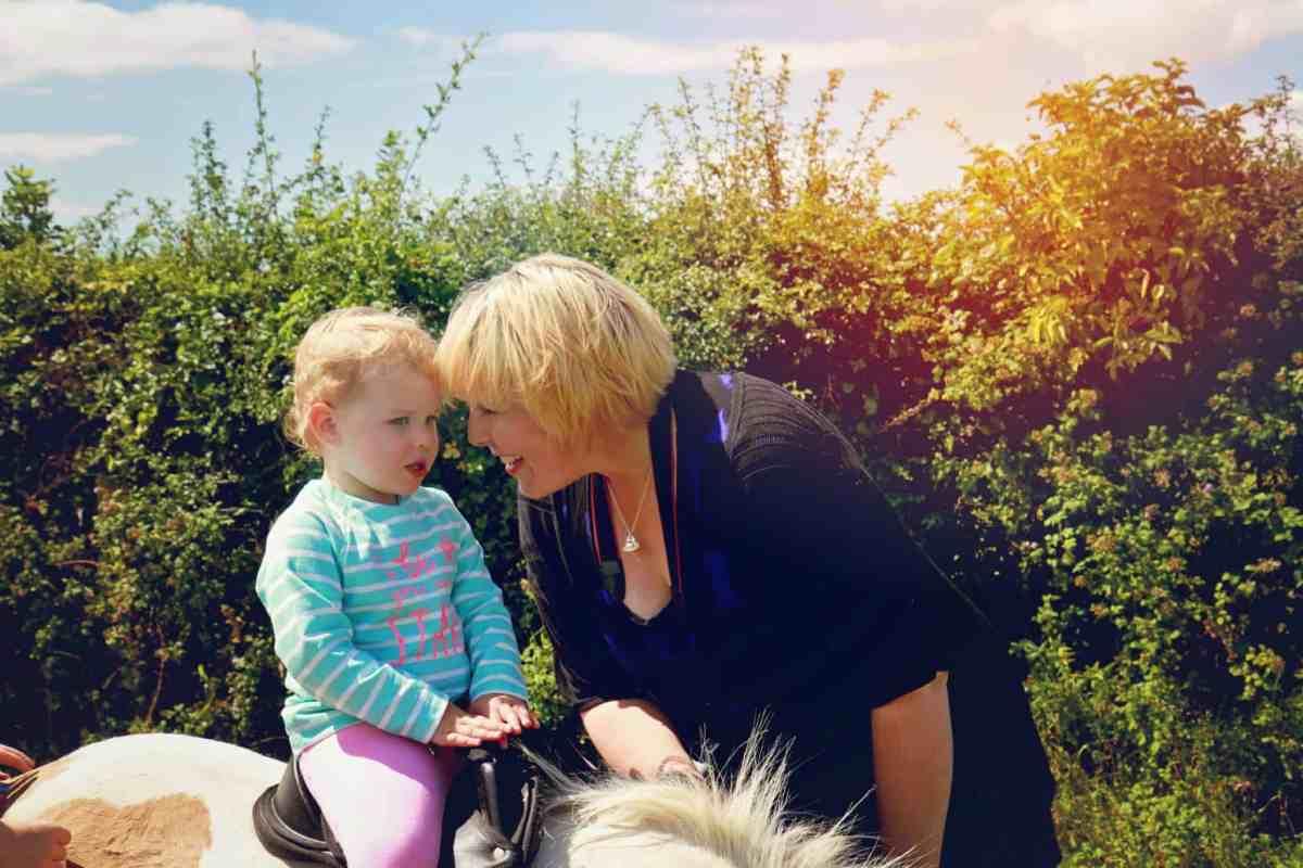 Little girl on pony