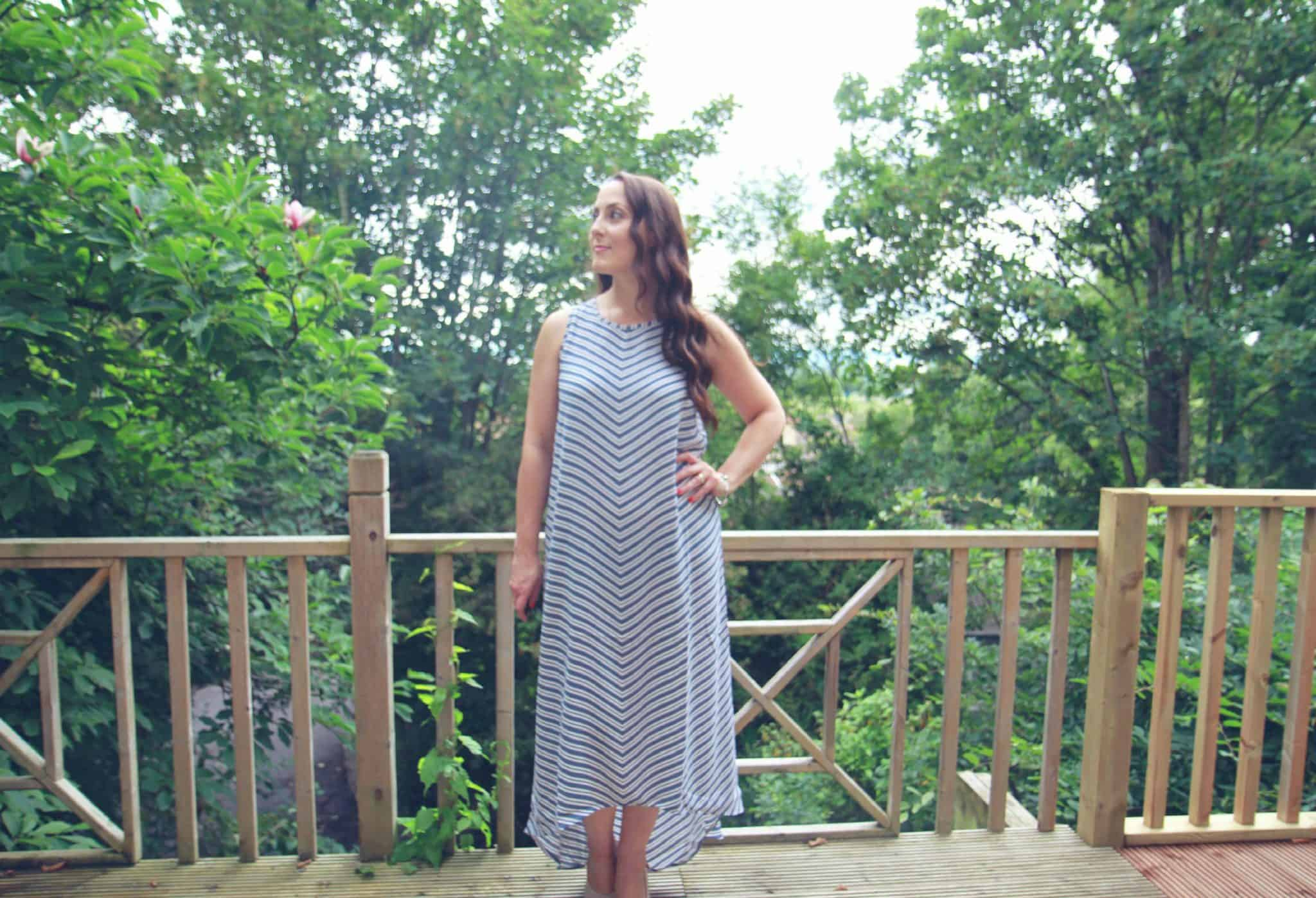 Striped trapeze style dress by Linea Weekend at House of Fraser