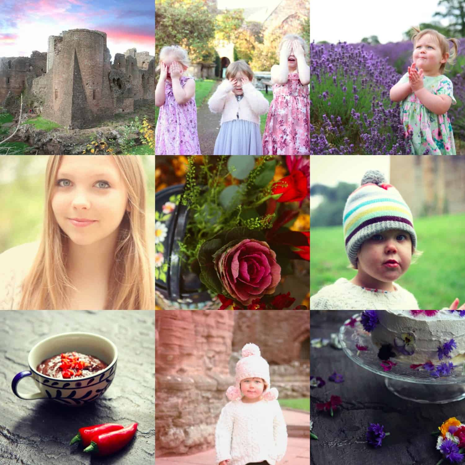 A collection of shots from a styled Instagram taken with a canon 7D