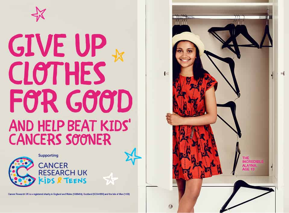 Bag up your unwanted clothes and take them to your nearest TK Maxx store to raise money for kids' cancers