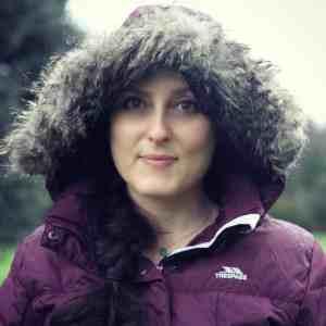 Fur trim hood on women's Trespass jacket