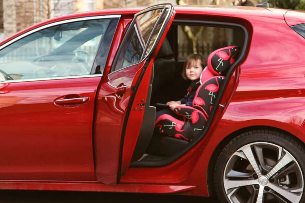 Peugeot 308 GT with car seat and isofix