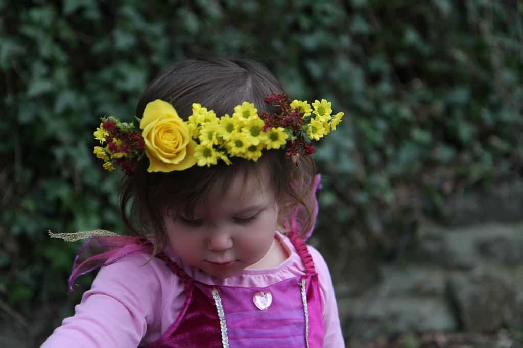 A beautiful flower crown made from fresh flowers