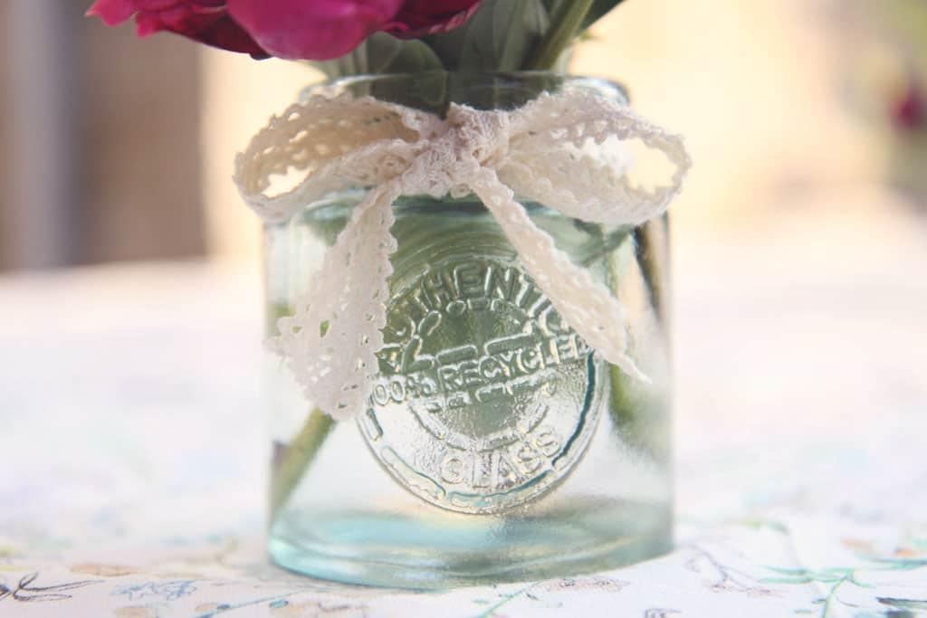 Mason jars for flower posies