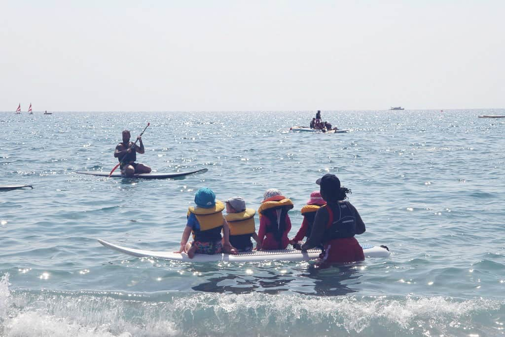 Children learning to sail on a Mark Warner holiday