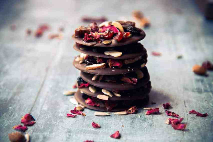 Chocolate thins stacked