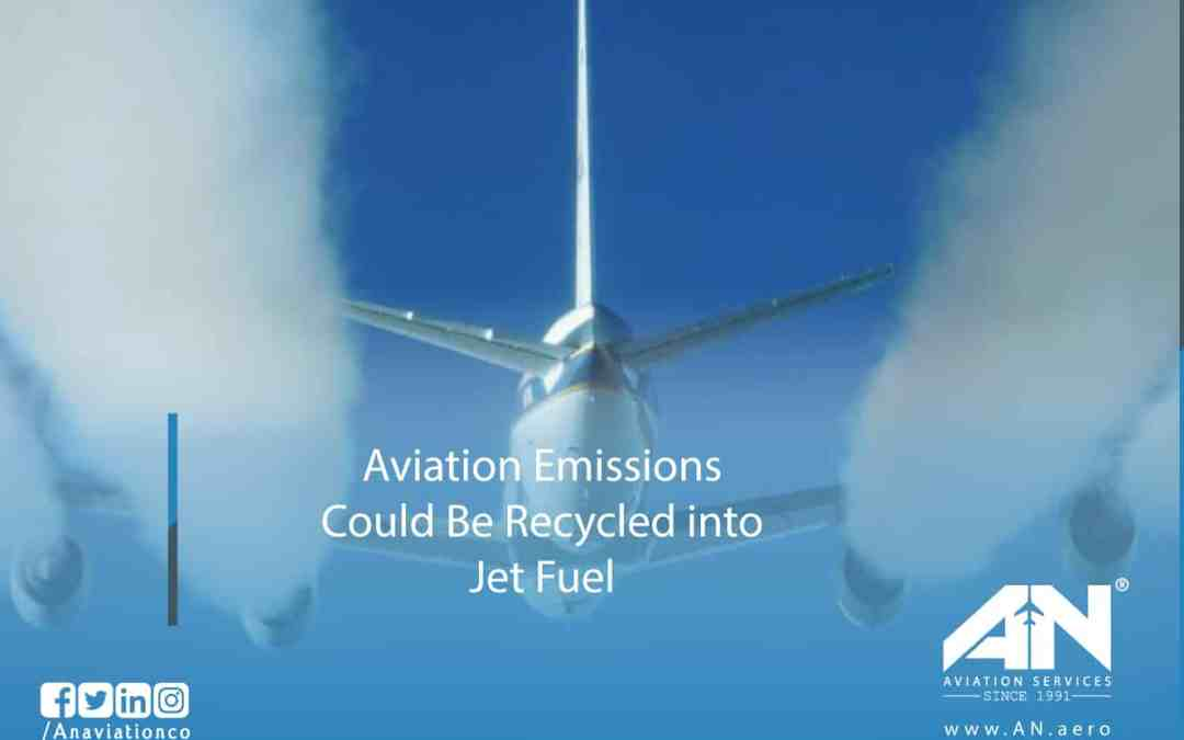 Aviation Emissions Could Be Recycled into Jet Fuel