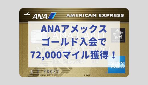 ANAアメックスゴールド入会で大量72,000マイル獲得!ベストはキャンペーン?ポイントサイト?(2020年1月最新版)