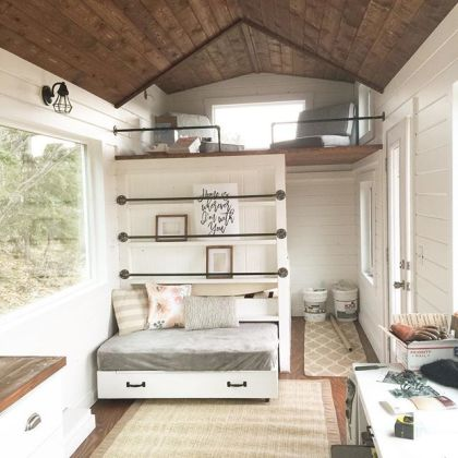 Ana White   Tiny House Loft with Bedroom  Guest Bed  Storage and     Ana White   Tiny House Loft with Bedroom  Guest Bed  Storage and Shelving    DIY Projects