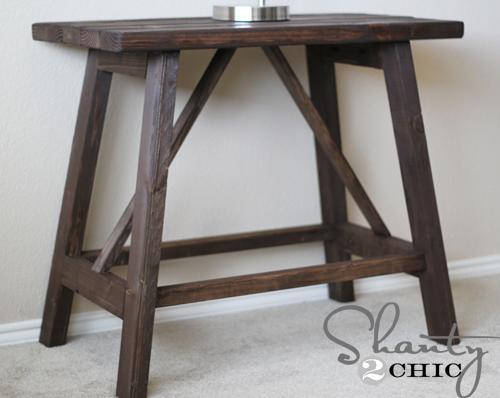 truss end table ana white