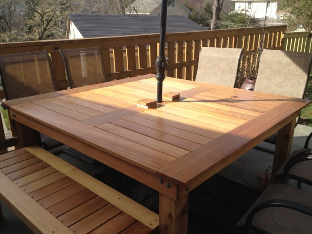 ana white | simple square cedar outdoor dining table - diy projects