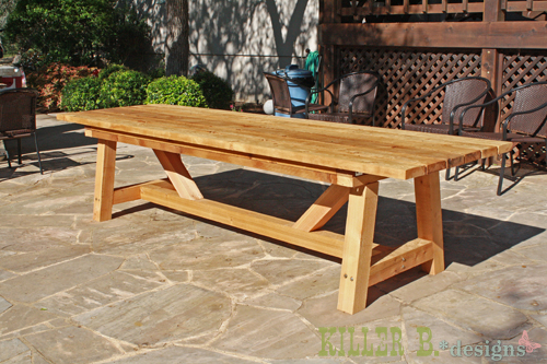 Ana White 10 Foot Long Provence Table With 4x4s DIY
