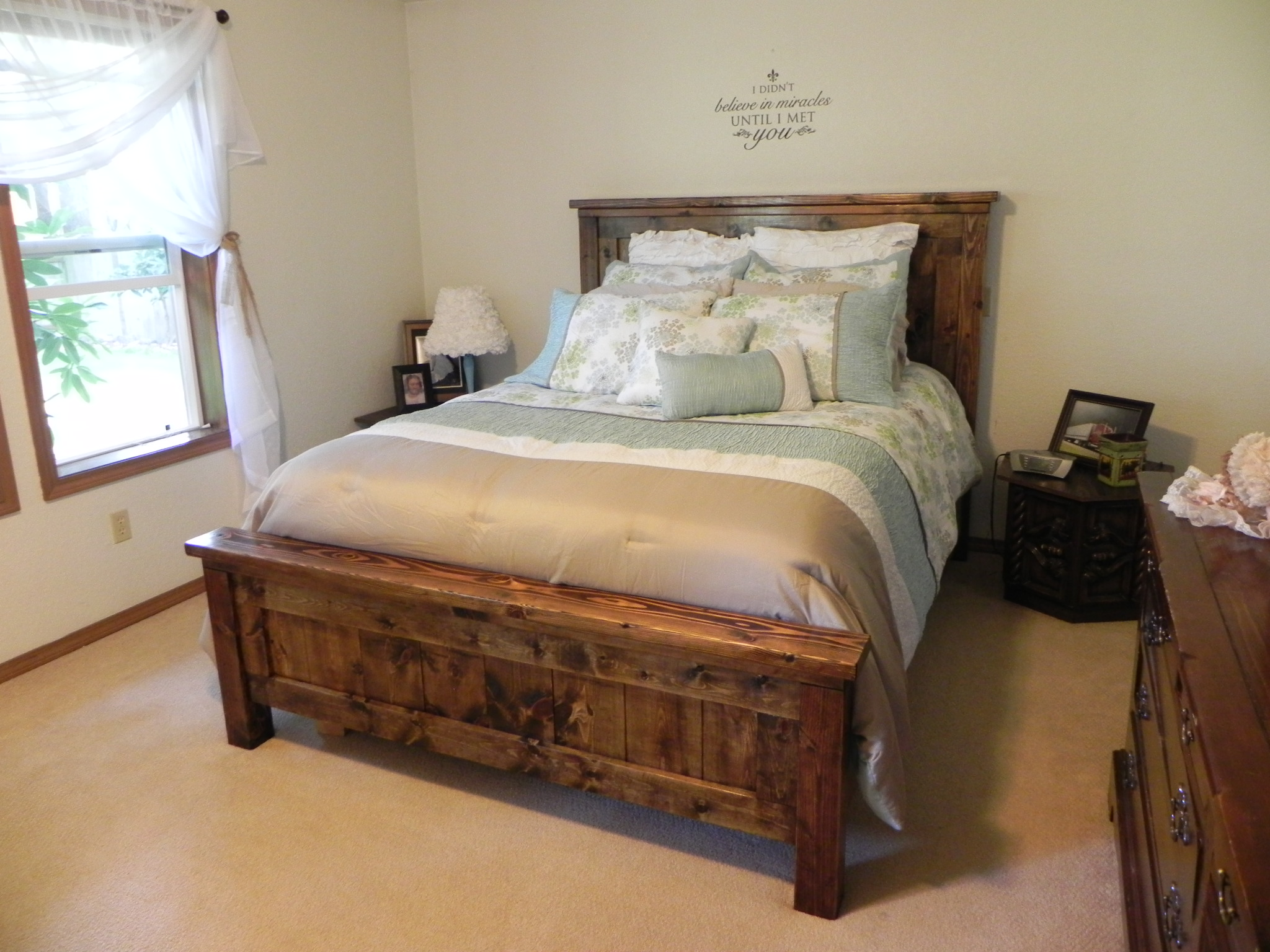 Ana White Farmhouse Queen Bed DIY Projects