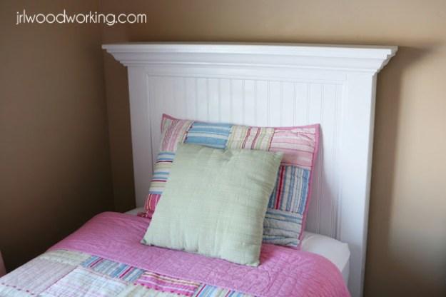 ana white   twin bed beadboard headboard - diy projects