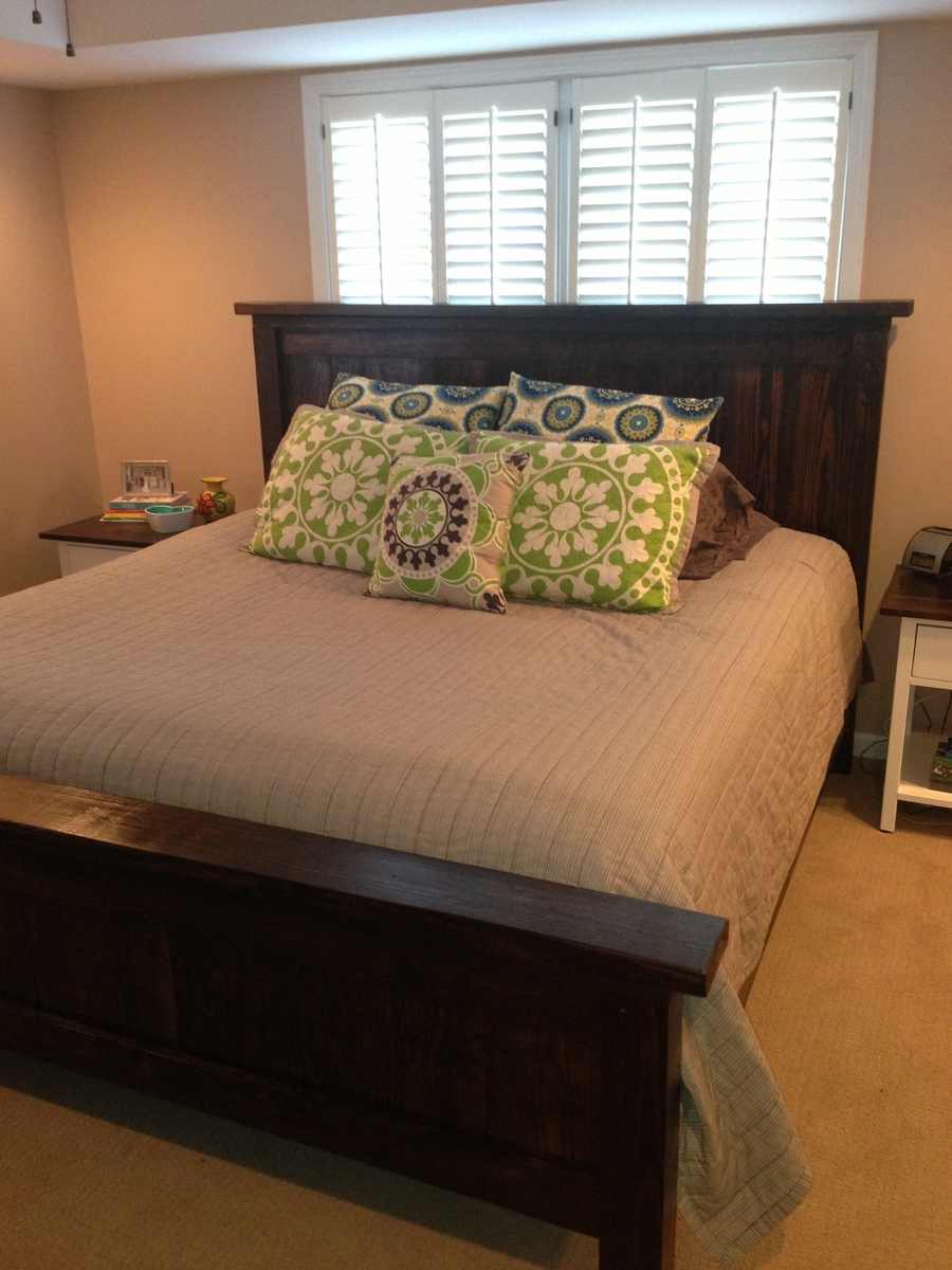 Ana White King Size Farm House Bed DIY Projects