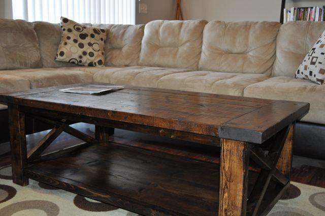 Ana White Farmhouse Style Rustic X Coffee Table DIY