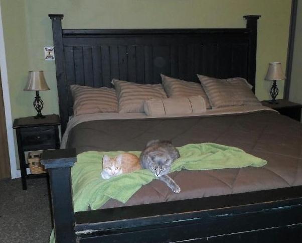 Ana White King Farmhouse Bed Black Distressed Finish