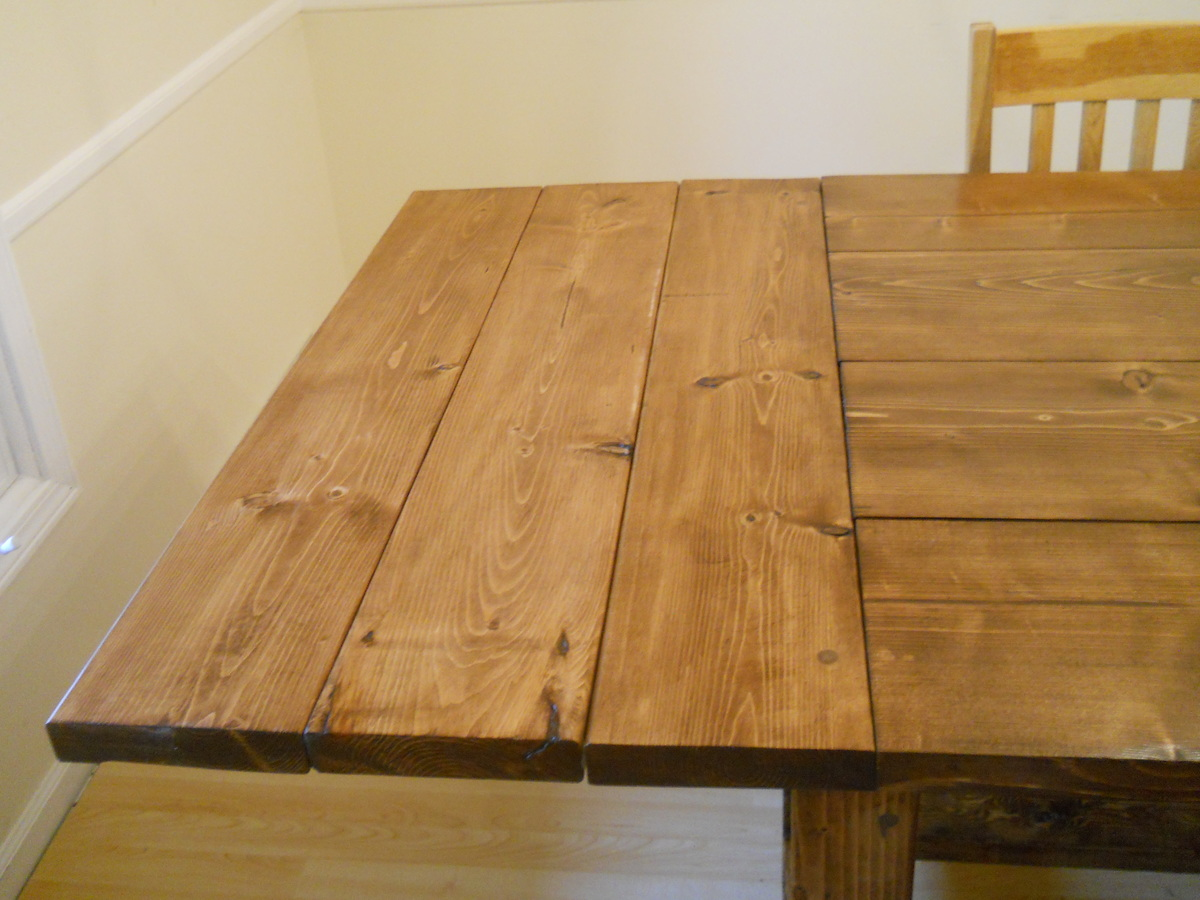Ana White Farm House Dining Room Table Modified With