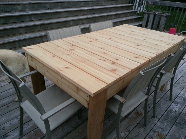 """ana white   red cedar """"simple outdoor dining table"""" - diy projects"""