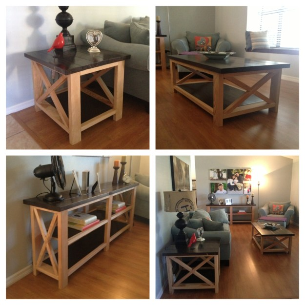 ana white | rustic x coffee table, end table and console - diy projects