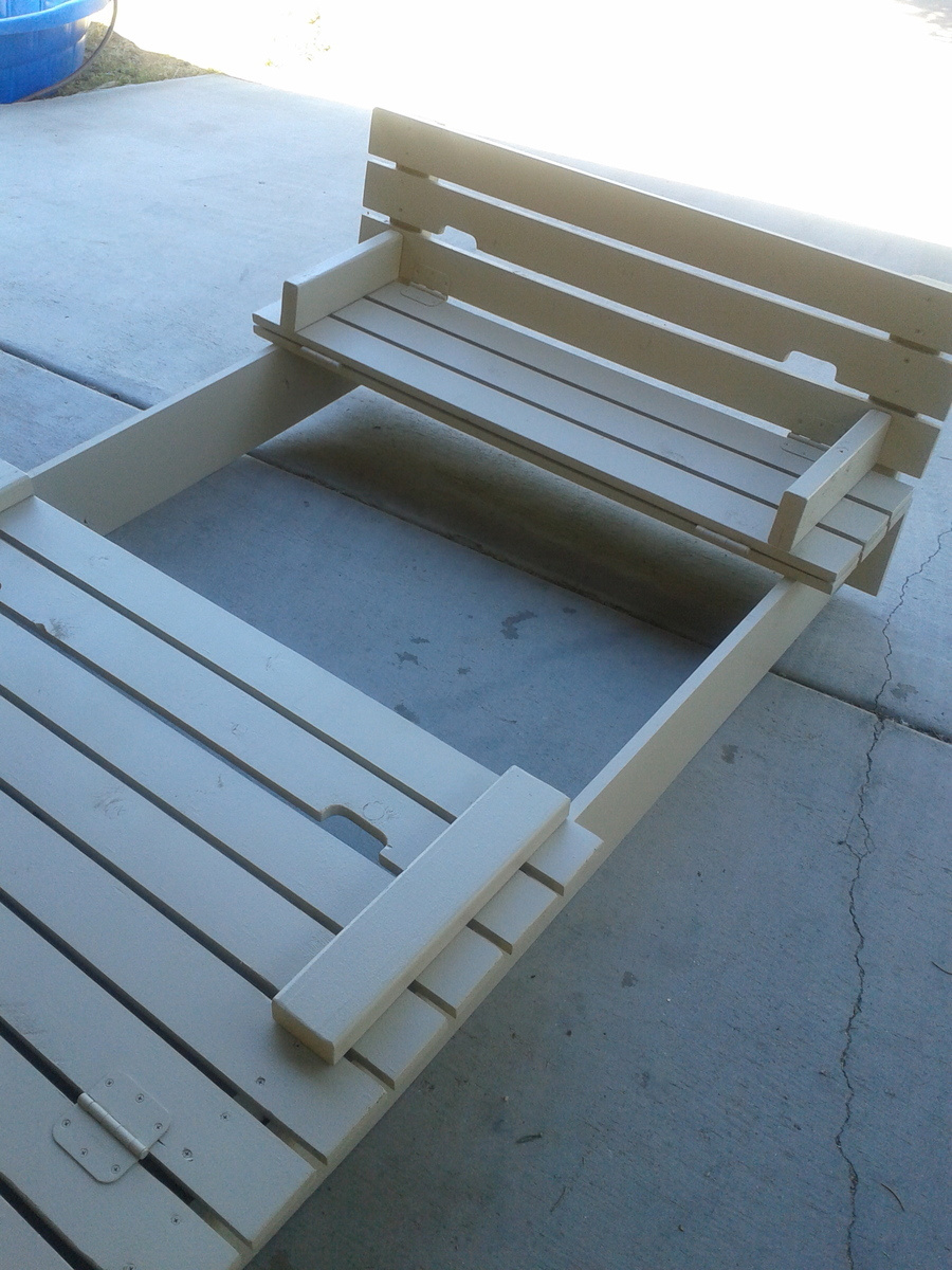 Ana White Custom Sandbox With Built In Seats Diy Projects