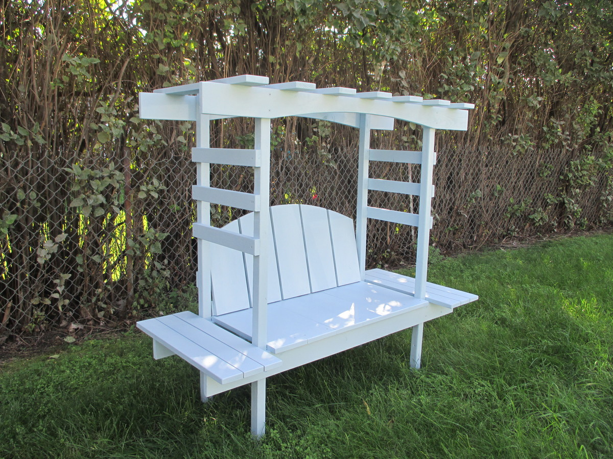Ana White Children S Bench With Arbor Diy Projects
