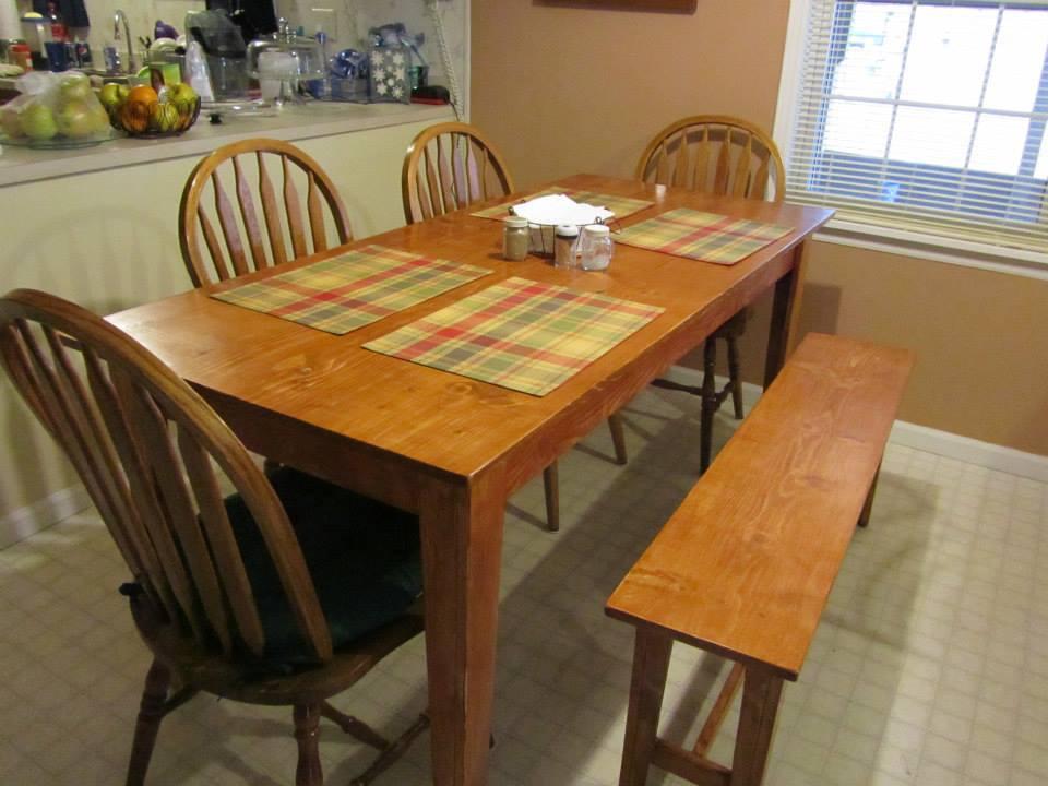 Ana White Narrow Farmhouse Table DIY Projects