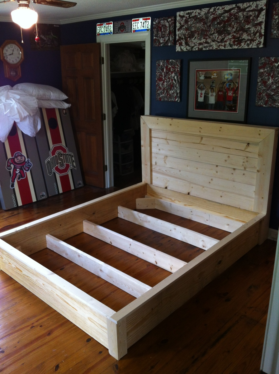 Ana White Platform Inspired Bed Frame DIY Projects