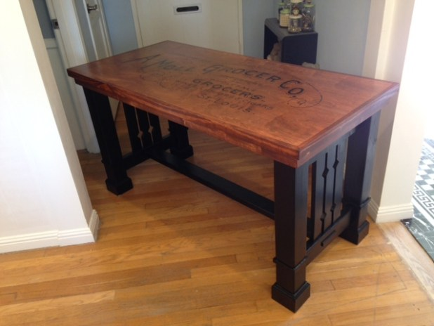 Craftsman style sofa table plans for Craftsman style desk plans