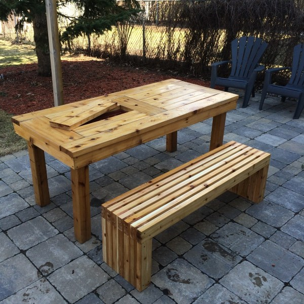 diy outdoor patio table Ana White | DIY Patio Table & Bench - DIY Projects