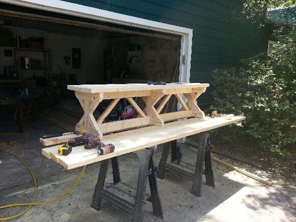 Ana White FANCY X FARMHOUSE TABLE DIY Projects