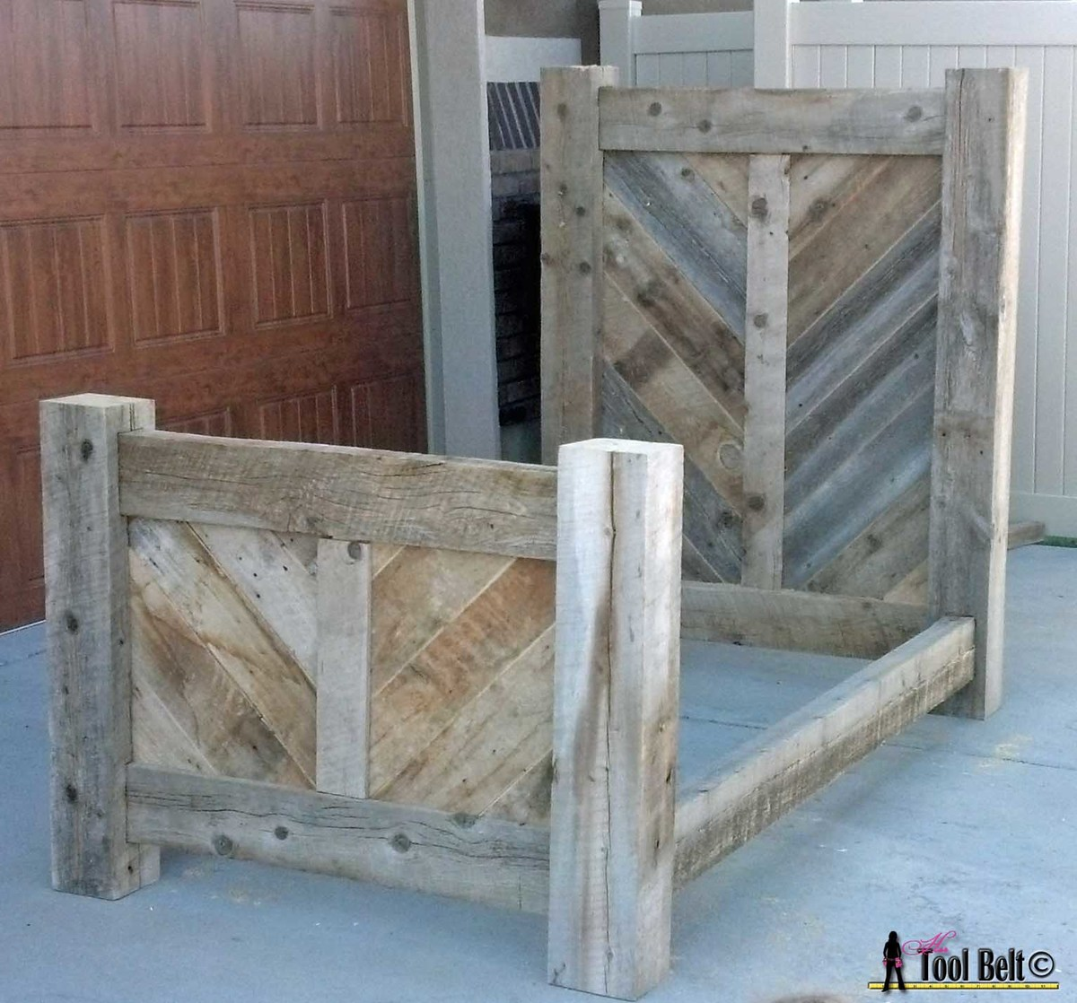 rustic barnwood bed plan ana white