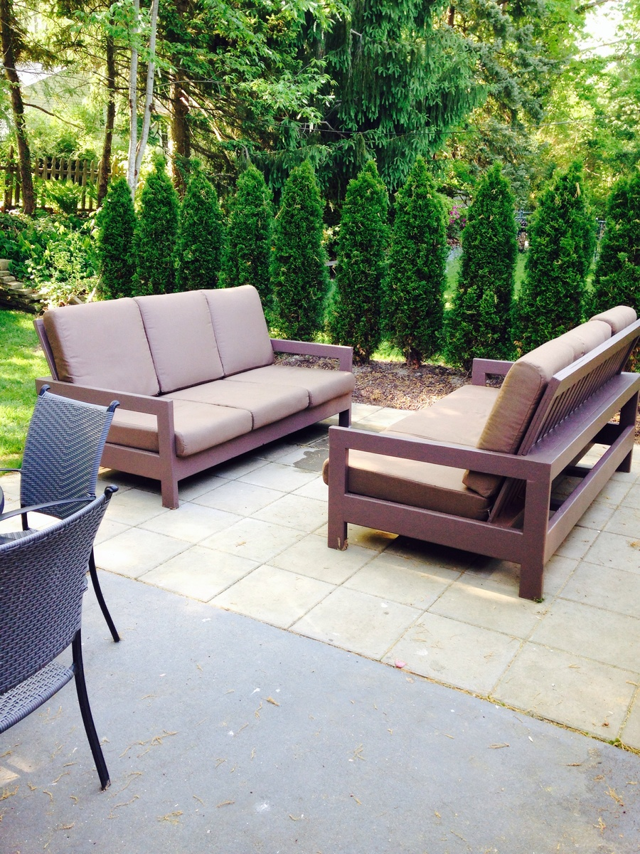 Ana White Outdoor Patio Couches DIY Projects