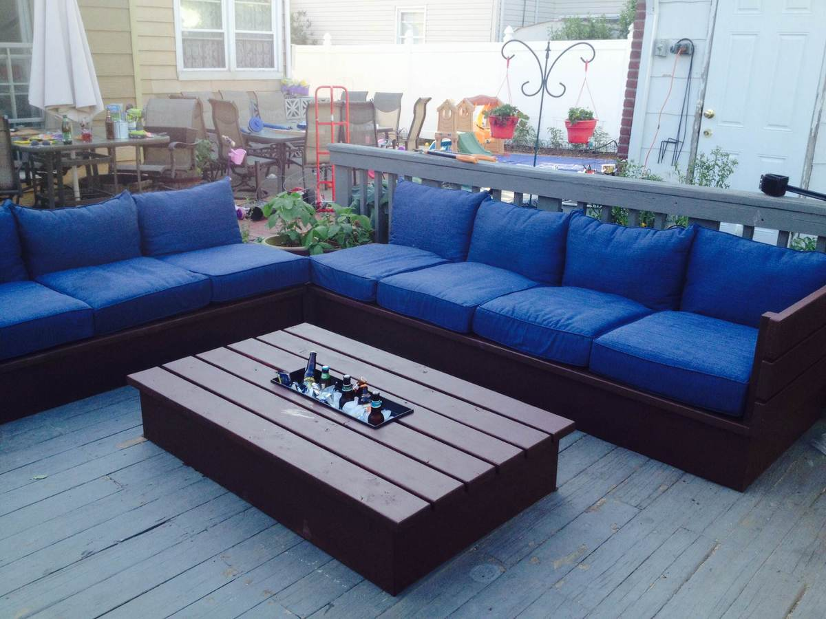 Ana White Pallet Style Outdoor Platform Sectional