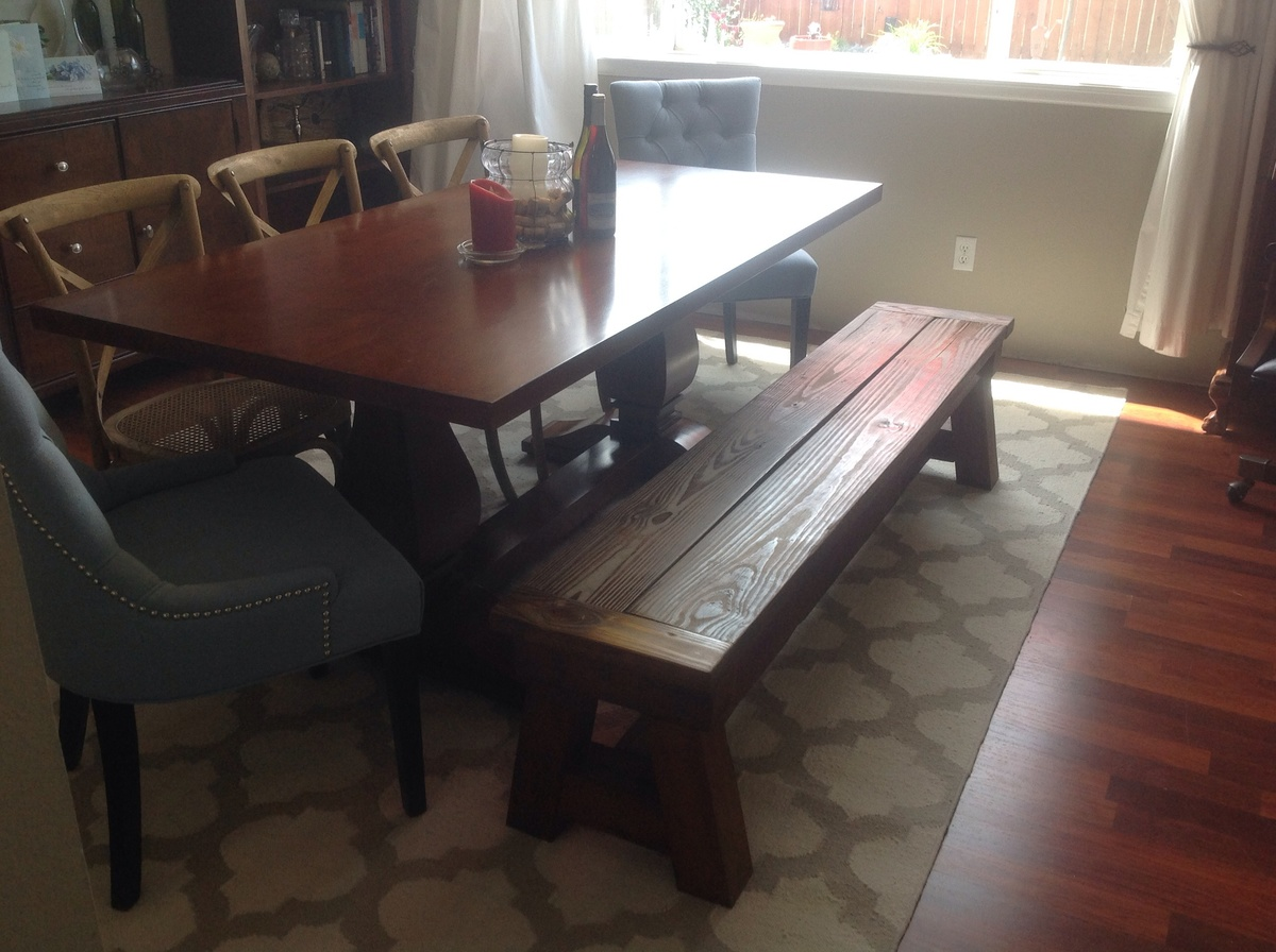 Ana White Dining Table 4x4 Truss Bench Diy Projects