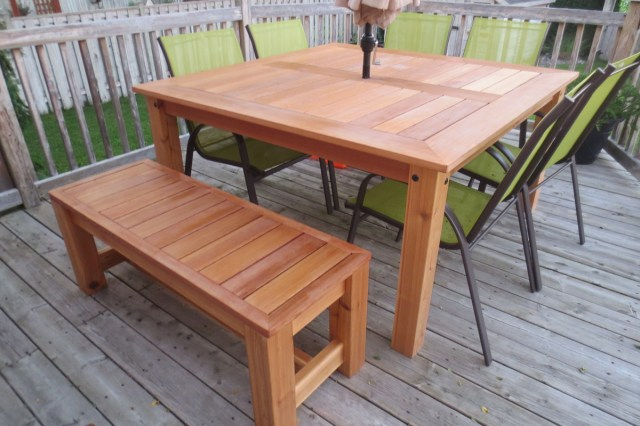 ana white | cedar patio table - diy projects