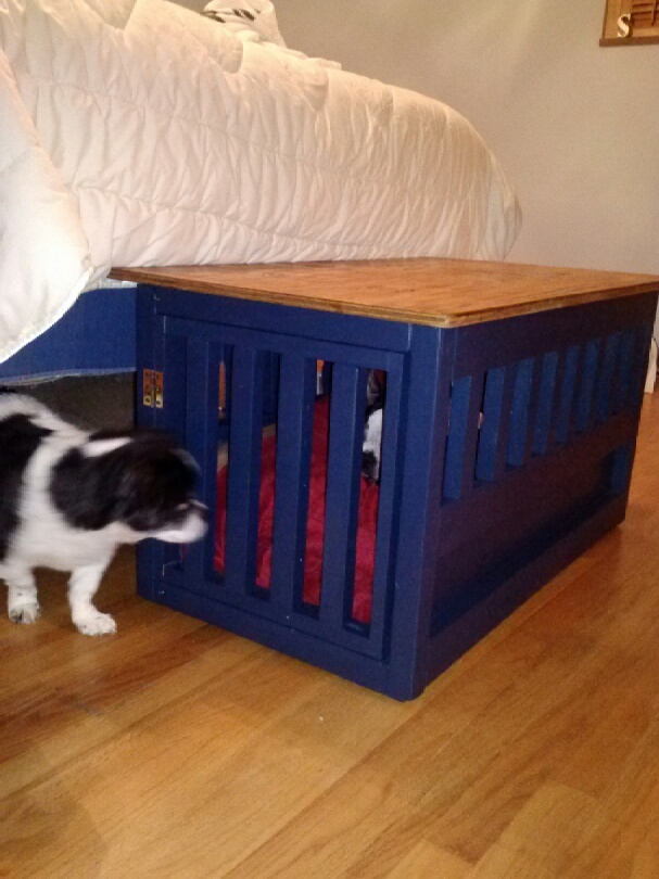 Ana White Dog Crate Bench Diy Projects