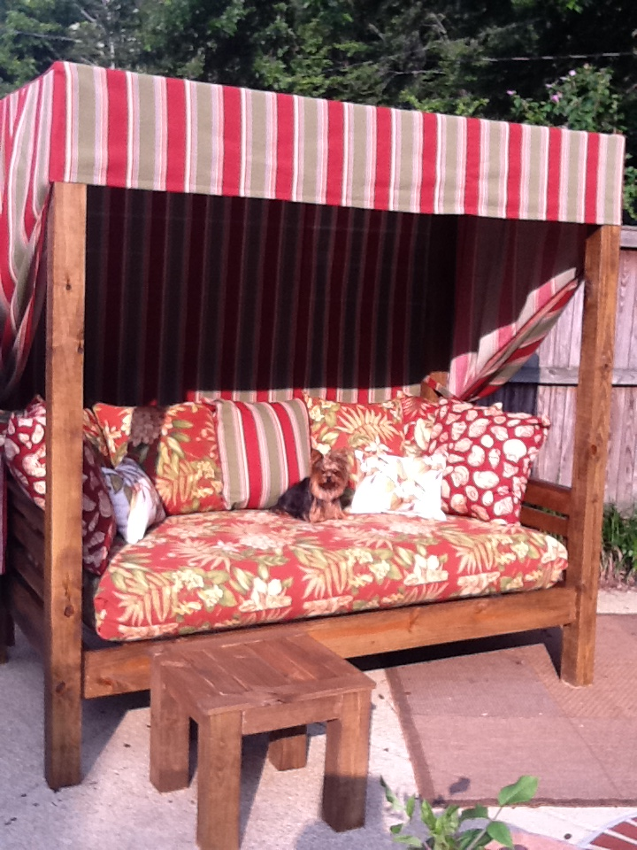Outdoor daybed   Ana White Woodworking Projects on Belham Living Lilianna Outdoor Daybed id=81501